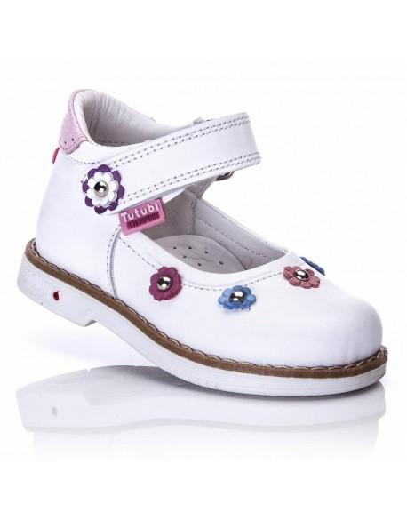 Туфли белые Tutubi 465-01 Турция р.21,22,23